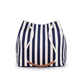 Ericdress Thread Canvas Stripe Barrel-Shaped Shoulder Bags