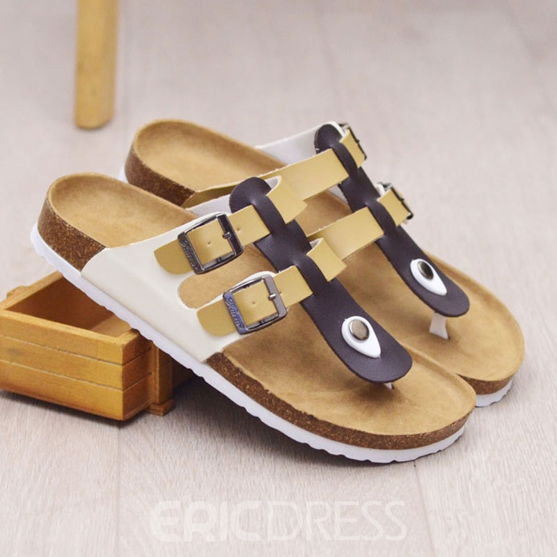 Ericdress Summer Buckle Slippers