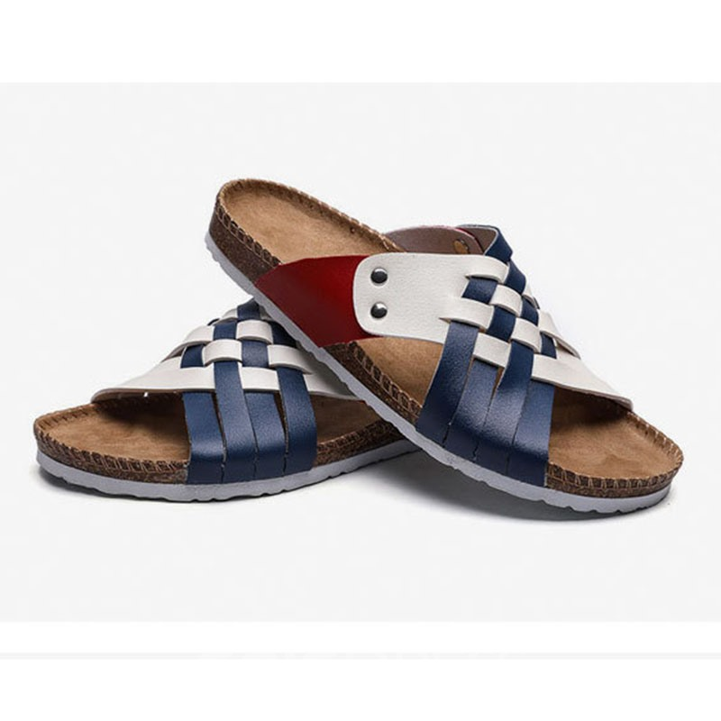Ericdress Woven Summer Color Block Slippers