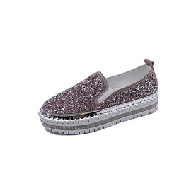 ericdress slip-on bout rond fil 4cm chaussures minces