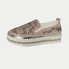 Ericdress Rhinestone Slip-On Round Toe Casual Thin Shoes