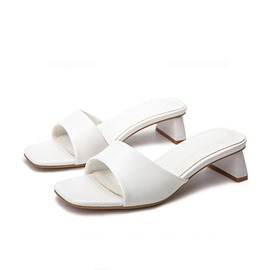 Ericdress Flip Flop Chunky Heel Candy Color Casual Slipper