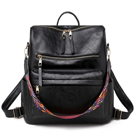 Ericdress Thread PU Plain Women's Backpacks