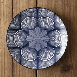 Ericdress Kitchen Supplies Round Western Ceramic Geometric Dishes & Plates
