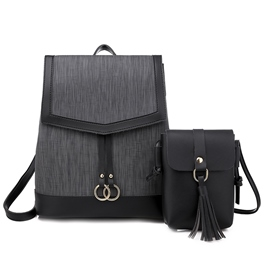 Ericdress Women's Thread Plain PU Backpacks