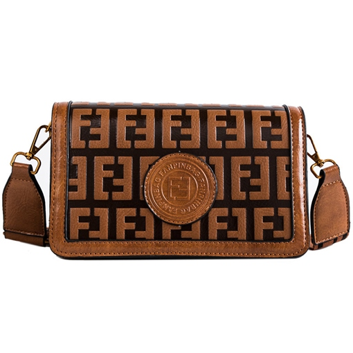 Ericdress PU Geometric Embossing Flap Crossbody Bags