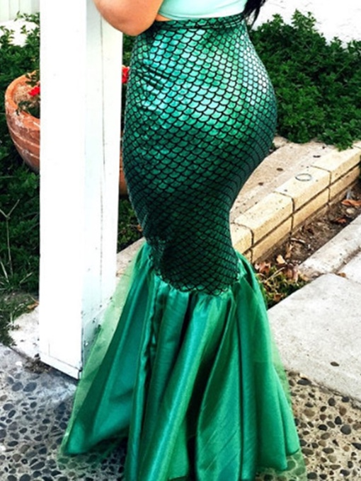 Ericdress Pleated Floor-Length Mermaid Sexy High Waist Skirt