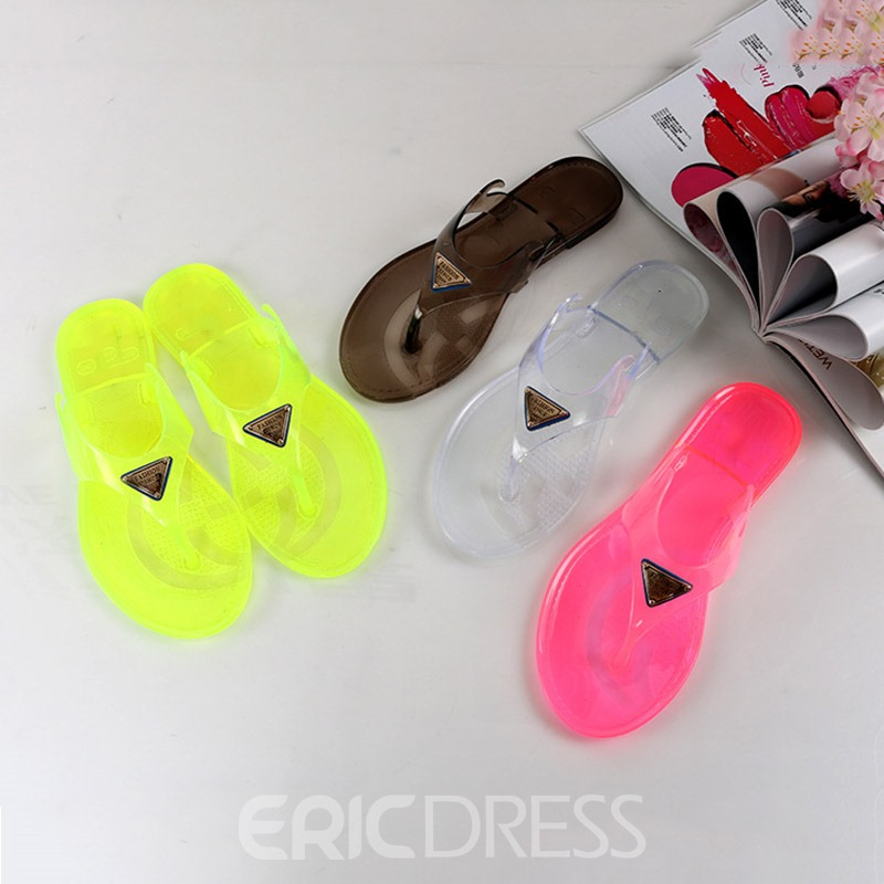Ericdress Flat With Slip-On Thong Women's Slippers