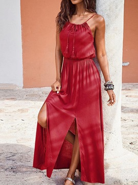 Ericdress Ankle-Length Scoop Sleeveless Casual A-Line Dress