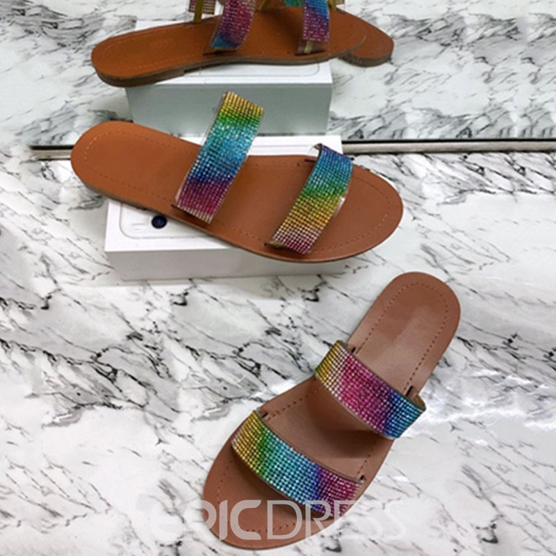 Ericdress Flat With Slip-On Flip Flop Summer Slippers