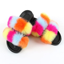 Ericdress Flat With Pompon Flip Flop Four Seasons Slippers