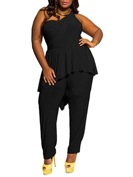Ericdress Falbala Full Length Slim Pencil Pants Jumpsuit