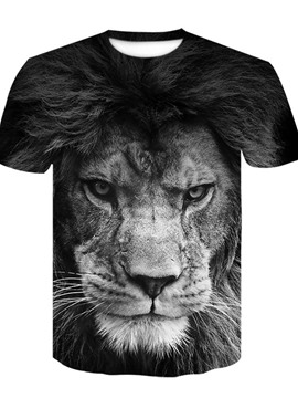 Ericdress Casual Print Animal Loose Short Sleeve T-shirt