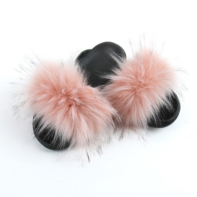 Ericdress Pompon Flat With Slip-On Casual Slippers