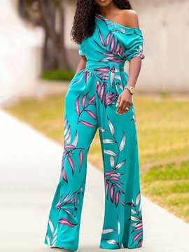Ericdress Western Full Length Plant High Waist Loose Jumpsuit