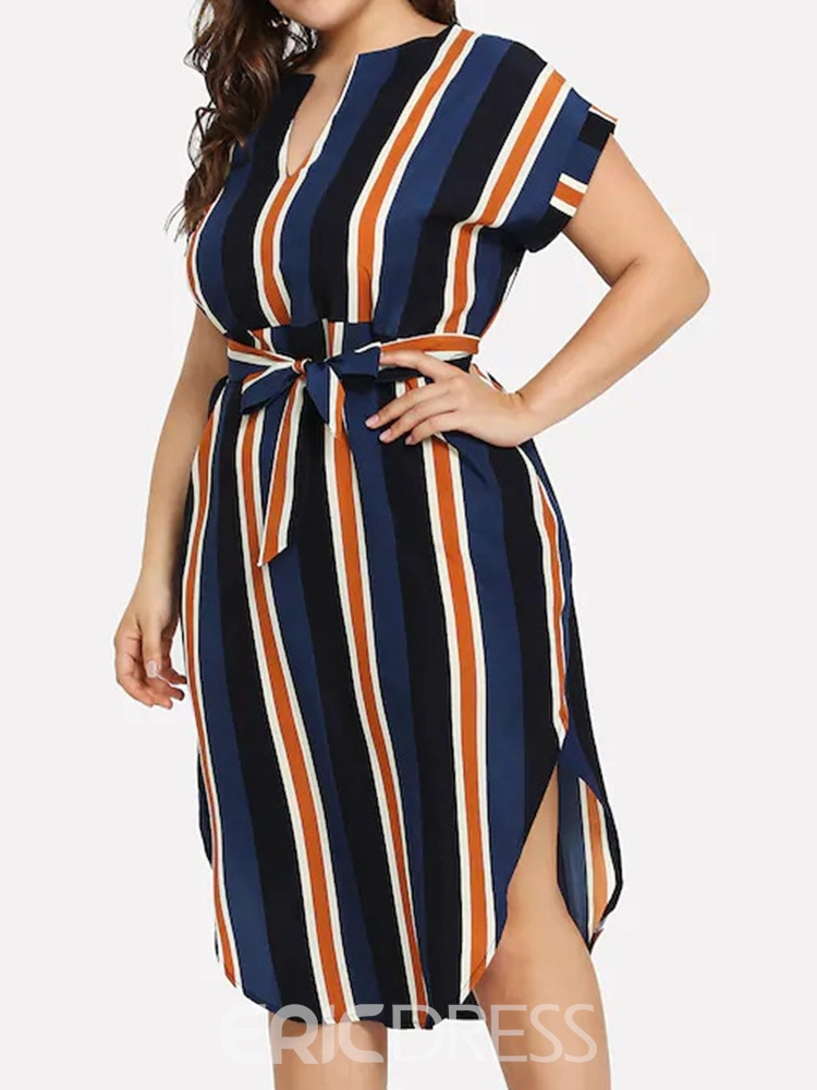 Ericdress Short Sleeve Mid-Calf Round Neck Casual Pullover Dress