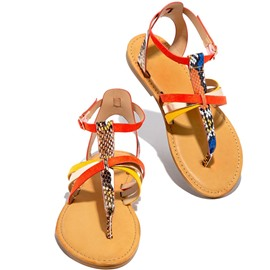 Ericdress Flat With Thong Buckle Serpentine Sandals