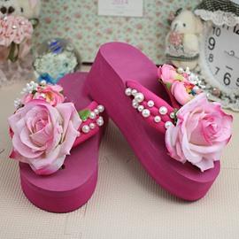 Ericdress Slip-On Flip Flop 3D Compound Slippers