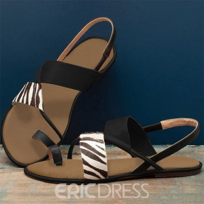 Ericdress Flat With Elastic Band Toe Ring Casual Sandals