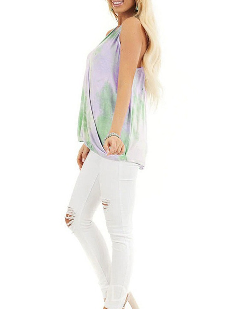 Ericdress I-Shaped Polyester Tie-Dye Mid-Length Tank Top