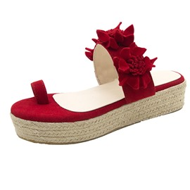 Ericdress Platform Toe Ring 3D Summer Slippers