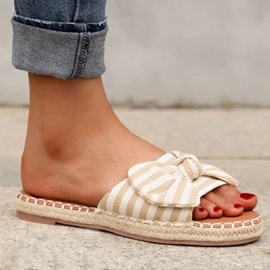 ericdress slip-on flat con zapatillas de chanclas de compuesto