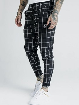 Ericdress Pencil Pants Plaid Casual Four Seasons Casual Pants