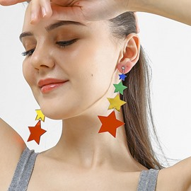 Ericdress Acrylic Color Block Prom Earrings