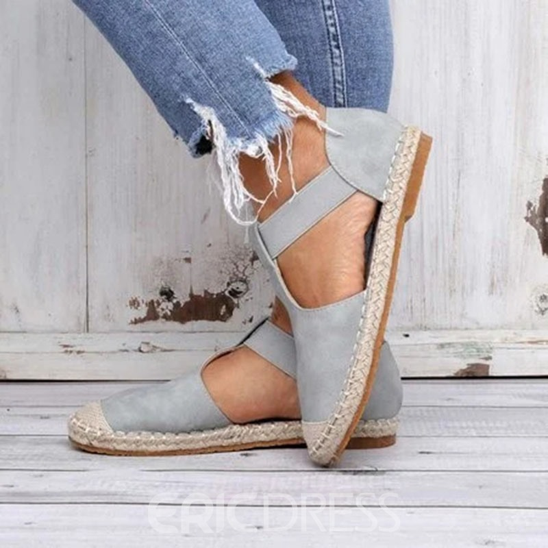 Ericdress Heel Covering Slip-On Flat With Thread Sandals