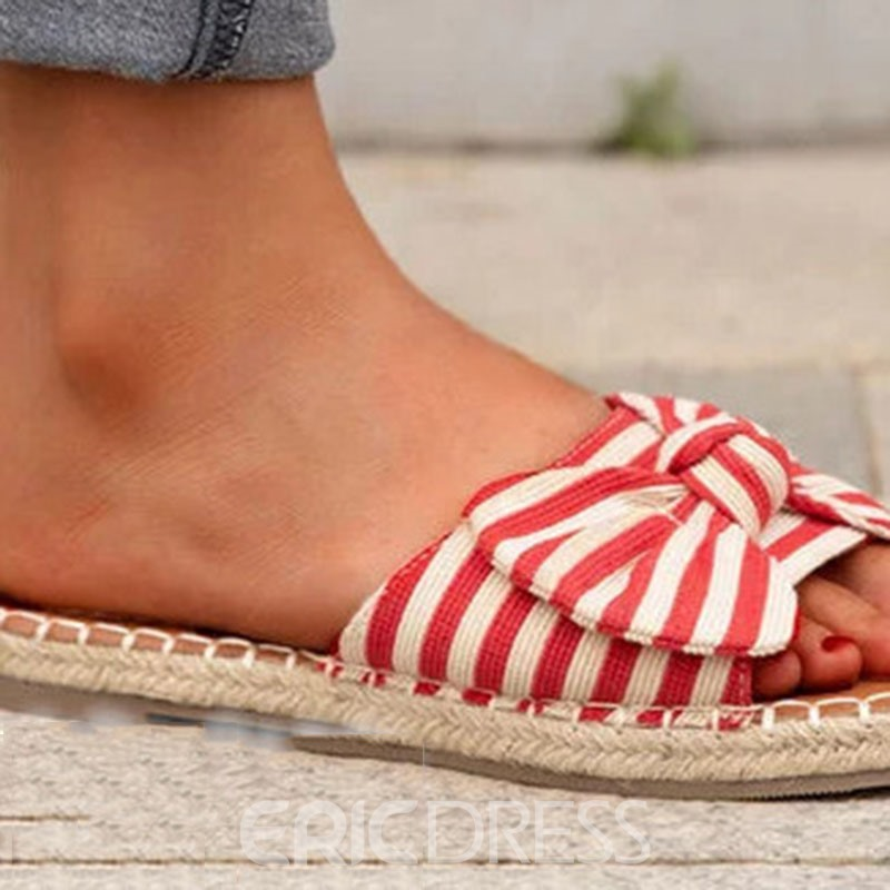 ericdress slip-on plat avec des tongs composées flip flop