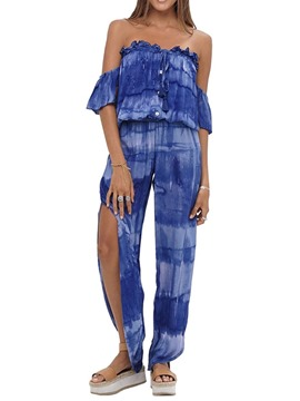 Ericdress Gradient Casual Full Length Straight Loose Jumpsuit