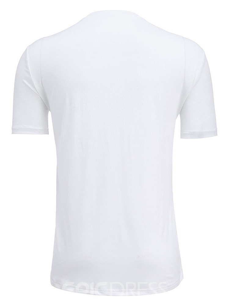 Ericdress Casual Gradient Round Neck Short Sleeve Men's Slim T-shirt