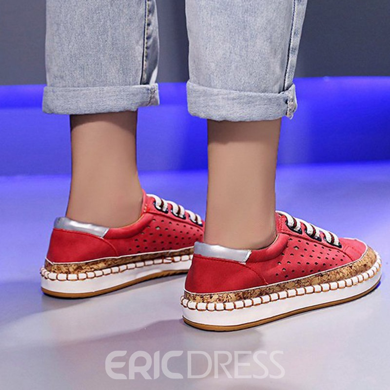 Ericdress Round Toe Low-Cut Upper Slip-On PU Sneakers