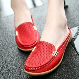Ericdress Block Heel Closed Toe Hollow Plain Slippers