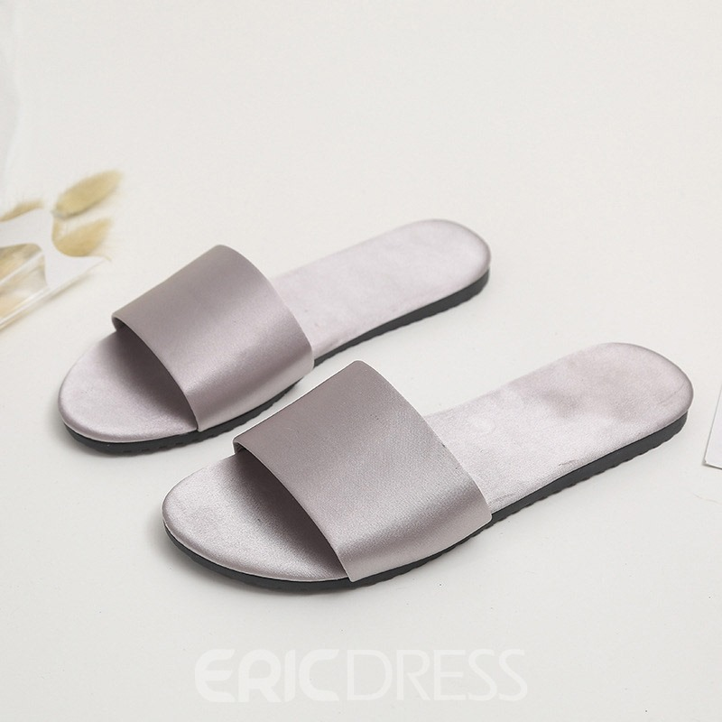 Ericdress Flip Flop Candy Color Flat With Plain Slippers