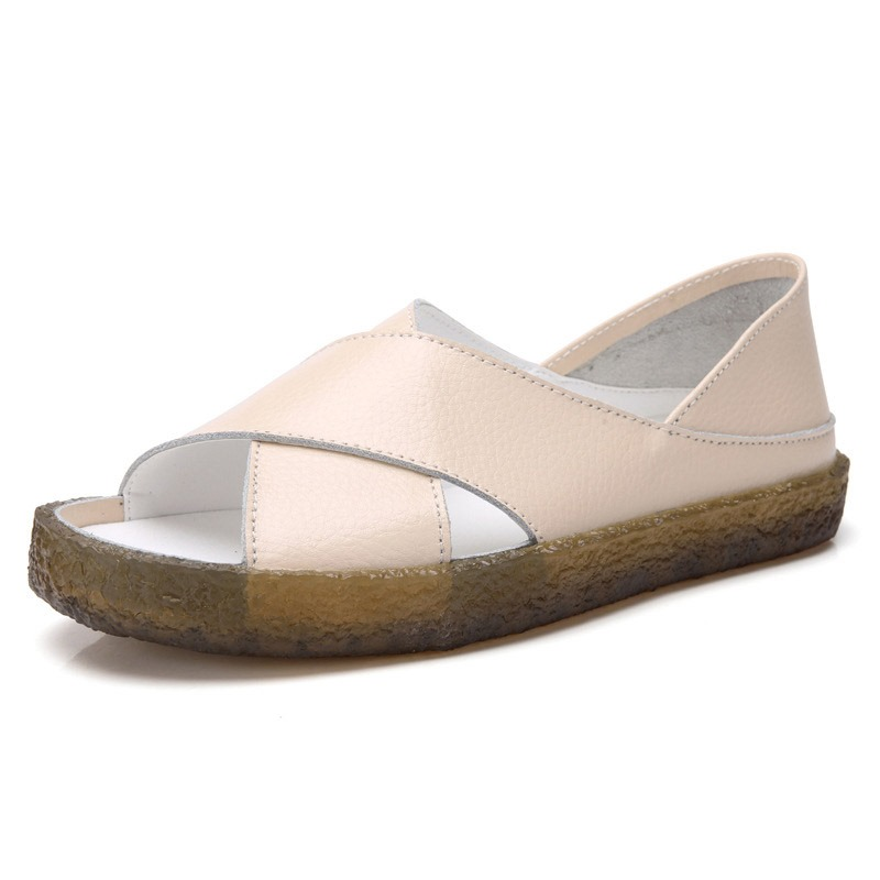 Ericdress Slip-On Heel Covering Flat With Plain Sandals