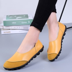 Ericdress Slip-On Round Toe Flat With Low Heel (1-3cm) Thin Shoes фото