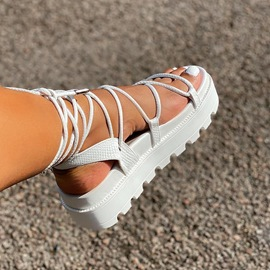 Ericdress Strappy Lace-Up Open Toe Casual Sandals