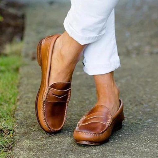Ericdress Slip-On Thread Flat With Casual Thin Shoes