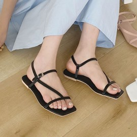 Ericdress Buckle Square Toe Buckle Sandals