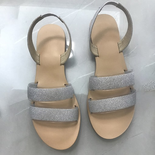 Ericdress Flat With Open Toe Slip-On Color Block Sandals