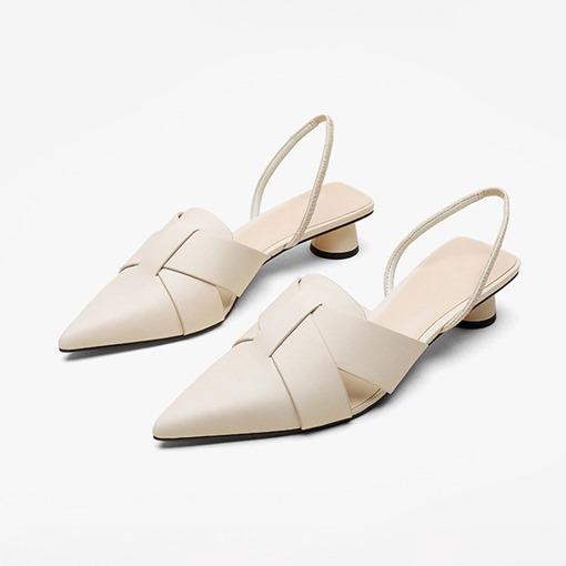 Ericdress Slip-On Chunky Heel Pointed Toe Casual Sandals
