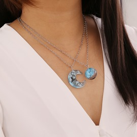 Ericdress Star Moon Pendant Sweet Female Necklaces