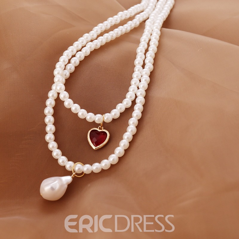 Ericdress Pearl Pendant Sweet Female Necklaces