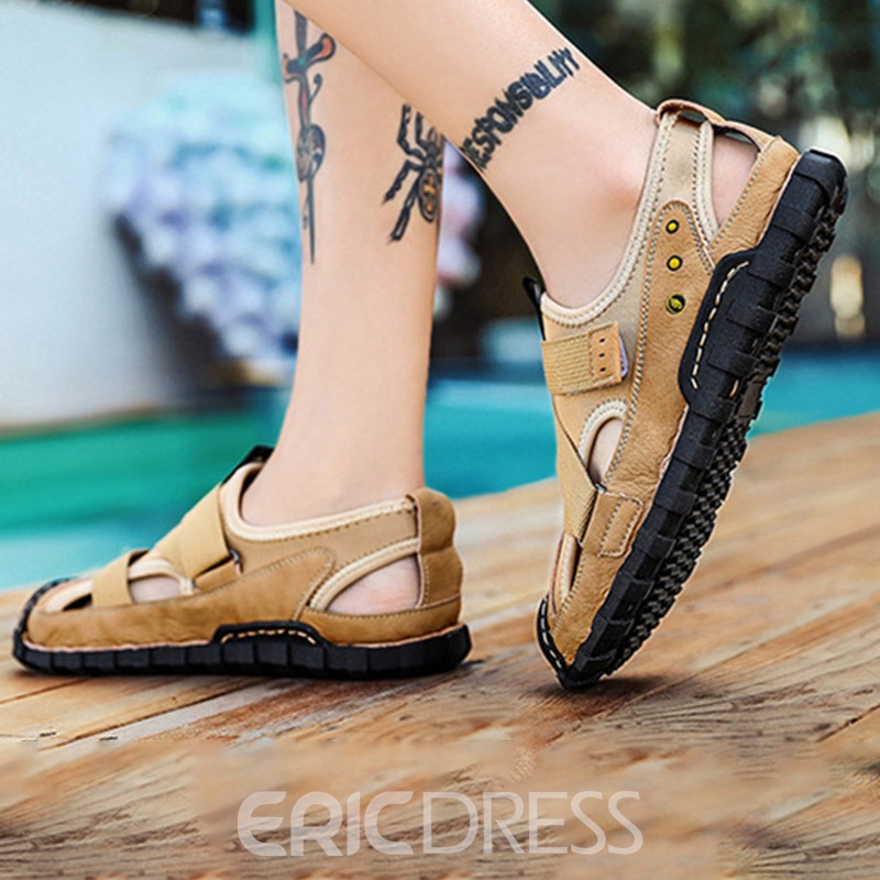 Ericdress Velcro Platform Low-Cut Upper Hollow Sandals