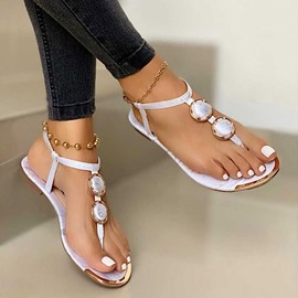 Ericdress Slip-On Flat With Thong Hollow Women's Sandals