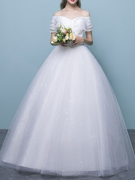 Ericdress Floor-Length Ball Gown Hall Wedding Dress