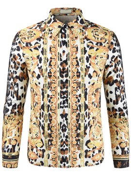 Ericdress Leopard Print Fall Slim Shirt