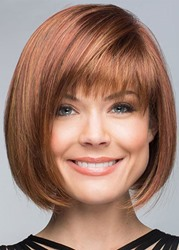 Ericdress Short Bob Hairstyle With Bangs Womens Straight Synthetic Hair Capless Wigs 10Inch