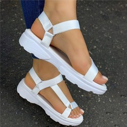 Ericdress Velcro Open Toe Flat With Candy Color Sandals